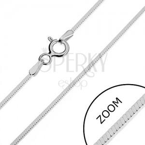 Nyaklánc ezüstből - fényes szögletes vonal, 0,95 mm