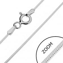 925 ezüst nyaklánc - sűrű szögletes vonal, 0,9 mm