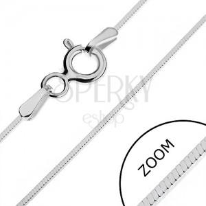 Ezüst nyaklánc - vékony négyszögletes vonal, 0,65 mm