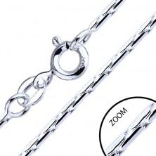 925 ezüst nyaklánc - pálcika elemek, 1,3 mm