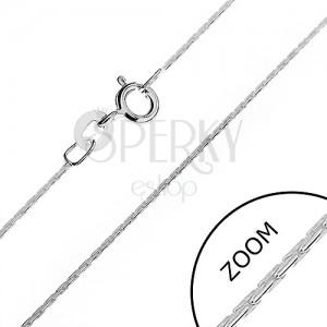 Ezüst nyaklánc - gömbölyített, fényes pálcikák, 0,6 mm