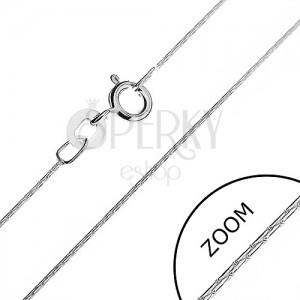 Nyaklánc 925 ezüstből - pálcika elemek, 0,5 mm