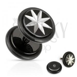 Hamis fültágító - nyolcágú ezüst színű csillag