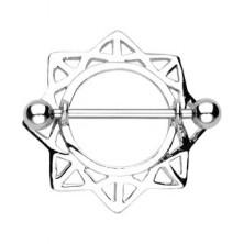 Mellbimbó piercing - háromszög alakú napsugarak, 2 darab