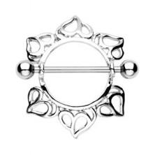 Piercing mellbimbóra, szívecske minták - 2 darab