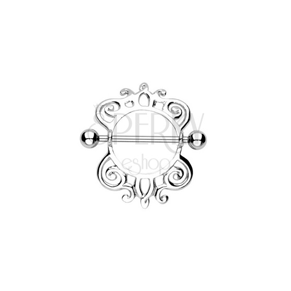 Mellbimbó piercing - csiga karika, 2 db