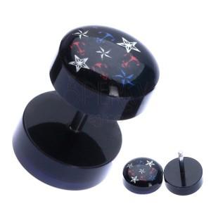 Hamis plug akrilból színes horgonyokkal és csillagokkal
