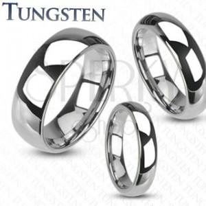 Volfrám gyűrű - sima, fényes, ezüst színű karika gyűrű