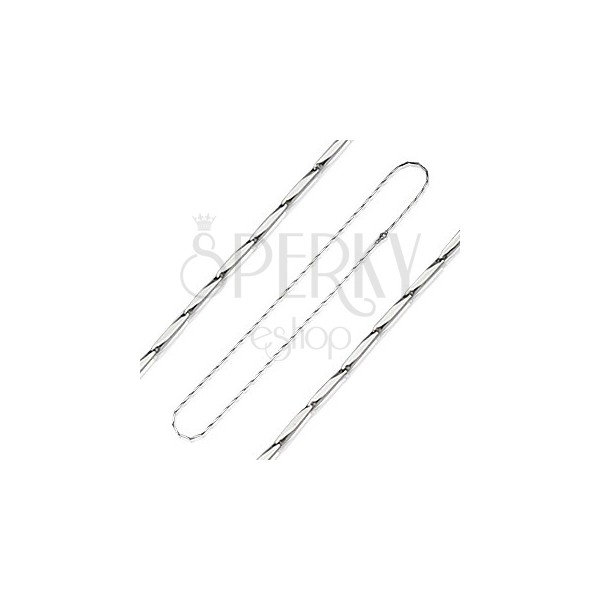 Minőségi acél nyaklánc - vágott hasáb láncszemek