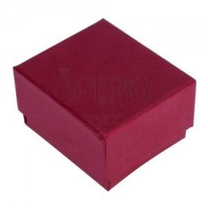 Pirosas-barna ajándékdoboz gyűrűnek, gyöngyházfénnyel