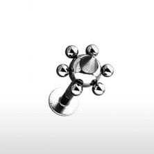 Áll piercing - kis golyócskák és tüske