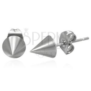 Fülbevaló sebészeti acélból, kúp formájú