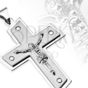 Nemesacél medál - keresztény szimbólum