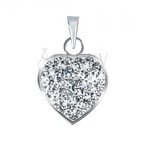 Ezüst medál - tiszta, ragyogó cirkóniákkal kirakott szív