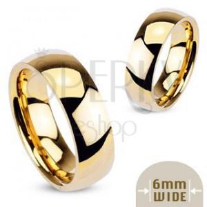 Arany színű gyűrű - sima, fényes karika