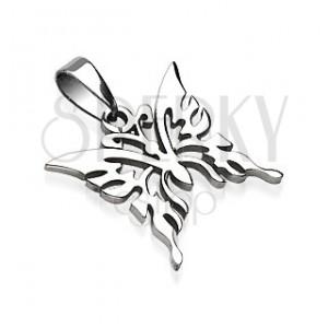 Sebészeti acél medál - pillangó