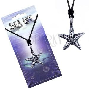 Madzag és fém medál - foltos tengeri csillag