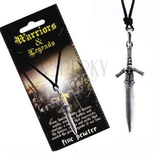 Madzagos nyaklánc - fém kard csontváz alakú nyéllel