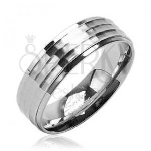 Sebészeti acél karikagyűrű - matt és fényes felület