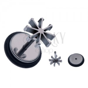Fake piercing a fülbe acélból - csillag