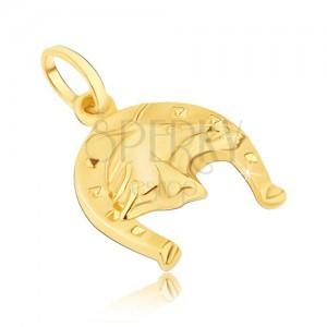 Arany medál - patkó négyzetekkel és 3D lófejjel