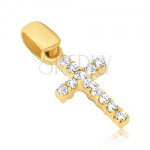 Arany medál - apró kereszt cirkóniával mindkét oldalról
