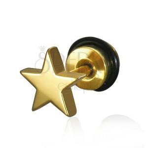 Fake plug fülbe csillag alakban - acél