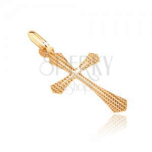 Arany medál - kereszt szélesedő szárral és keskeny kereszttel