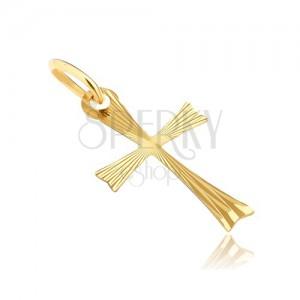 Arany medál - kereszt kettős szárral és sugarakkal