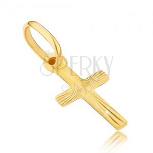Arany medál - kereszt fényes sugarakkal a felszínén
