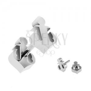 Fake plug fülbe sebészeti acélból - horgony