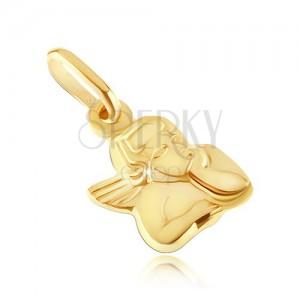 Arany medál - angyalka megtámasztott fejjel