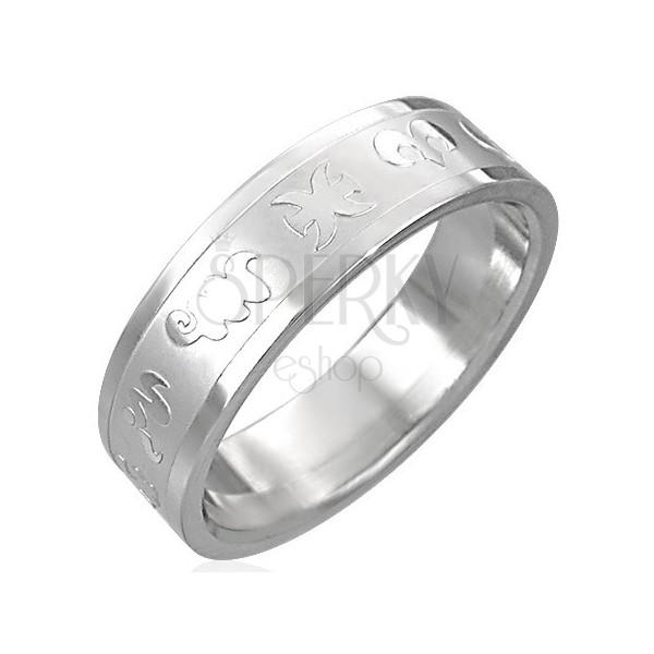 Sebészeti acél gyűrű - állatövi jegyek