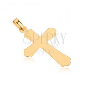 Arany medál - fényes lapos kereszt, háromcsúcsú szárak