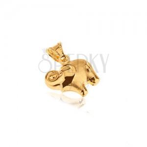Arany medál - elefánt, felálló ormánnyal