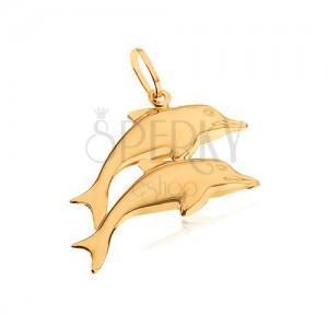 Arany medál - két tükörfényű kiugró delfin
