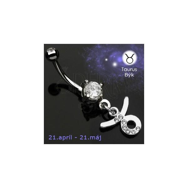 Köldök piercing - Bika csillagjegy medál