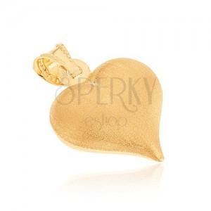 Arany medál - szabályos szív szatén felülettel