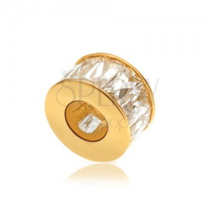 Arany medál - karika téglalap alakú cirkóniákkal kirakva