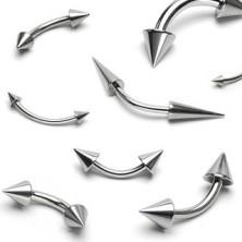 Basic szemöldök piercing - két tüske, többféle méret
