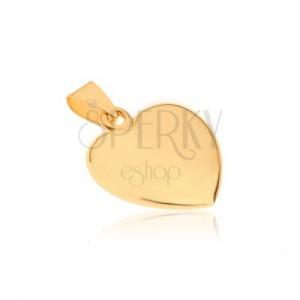 Csillogó arany medál - enyhén kidomborodó szabályos szivecske