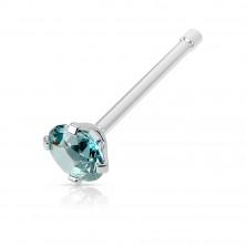 Orr piercing sebészeti acélból - egyenes súlyzó, kerek cirkónia különböző színekben