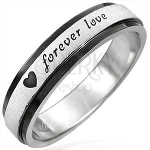 Acél gyűrű fekete széllel, Forever Love