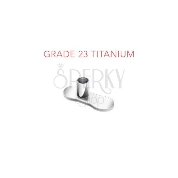 Talpacska az implantátumhoz, titániumból, rés nélkül