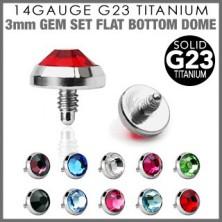 G23 titán kiegészítő fej az implantátumhoz - átlátszó kerek cirkónia, 4 mm
