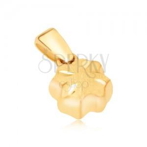 Arany medál - térbeli négy levél, szatén felszín, fényes vésetek