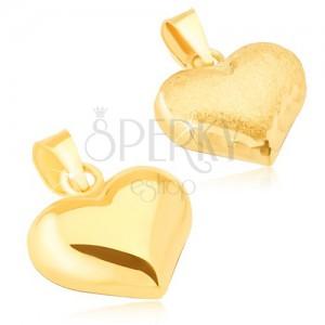 Arany medál - háromdimenziós szív, szatén-fényes