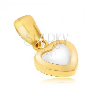 Arany medál - kétszínű szabályos szív, fényes legömbölyített felszín