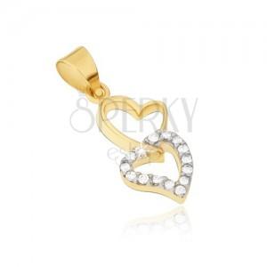 Arany medál - két összekapcsolt szabálytalan szívkörvonal , cirkóniák