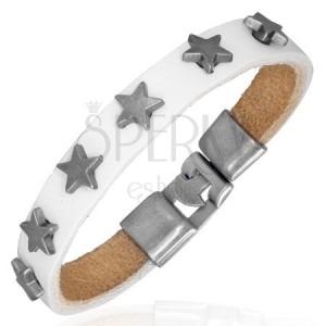 Fehér színű karkötő hat csillaggal